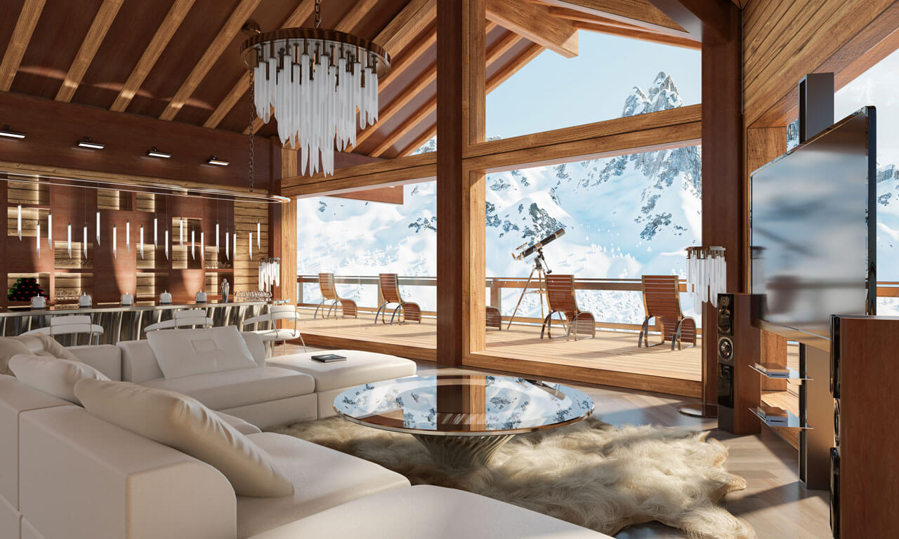 The most beautiful chalets and apartments for rent in Switzerland, with perfect views of the mountains