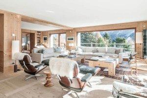 Luxuschalet Chesa Stupenda Living area Wohnbereich